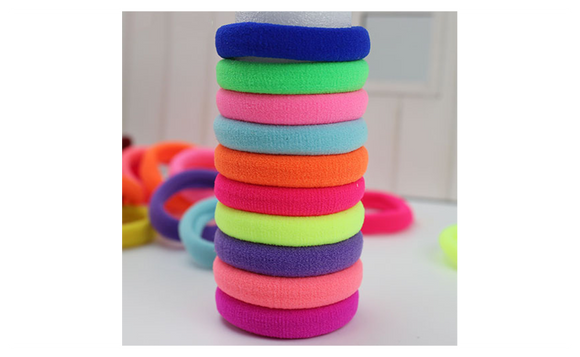 Quality Candy Fluorescence Colored Rubber Bands Hair Elastics