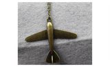 Vintage Aircraft Chain Link Necklace for Sky Lovers