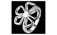Silver Plated Top Flower Design Ring For Women-6,7,8,9