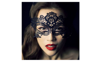 Black Sexy Lady Lace Mask Cutout Eye Mask for Masquerade Party