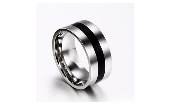 Simple Wedding Engagement Stainless Steel Women Ring (6,8)