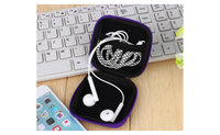 Headphones Earphone Cable Earbuds Storage Hard Case Carrying Pouch bag