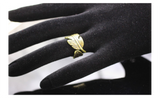 Antique Couples Leaf Feather Finger Ring For Women (Resizable)