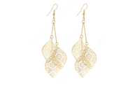 Dangle Long Hollow Leaves Earrings For Women