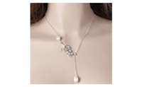 High Quality Hollow Leaves Shaped Simulated Pearl Woman Necklace