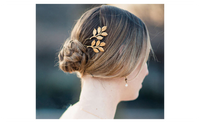 Lovely Golden Leaf Hair Hair Clip For Women