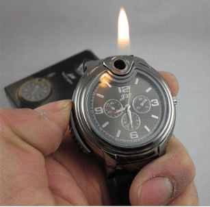 New Mens Military Lighter Watch
