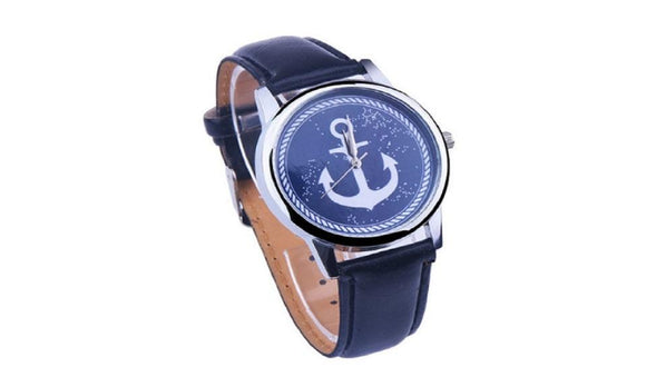 New Faux Leather Elegant Anchor Sailor Watch