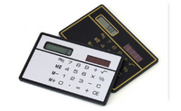 Mini Slim Credit Card Solar Power Pocket Basic 8-Digit Calculator