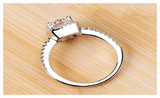 White Sapphire Silver Plated Wedding Ring