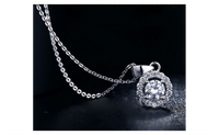 White Gold Plated Vintage Wedding Chain Necklace For Women