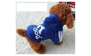 New Autumn Winter Blue Dog Soft Cotton Clothes Coat (M)
