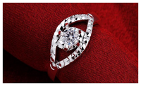 Silver plated New Design Wedding Finger Ring For Women