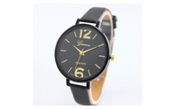 Bracelet Faux Leather Analog Quartz Wristwatch For Women