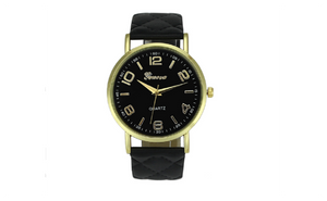 New Women Casual Pu Leather Band Wristwatch