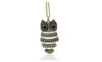 Fashion Vintage Owl Necklace Jewelry for Women !Statement Necklace - sparklingselections