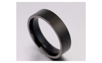Titanium Band Brushed Wedding Stainless Steel Solid Ring For Men (8)
