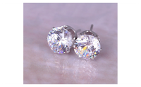 Luxury Austrian Platinum Clear Stud Earrings for Women