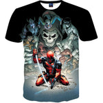 Currently Trending Deadpool 3D T-Shirt Marvel Comics