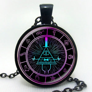 Drama Gravity Falls Mysteries BILL CIPHER WHEEL  Necklace