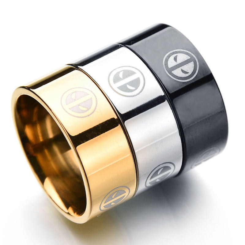 *Deadpool Ring Stainless Steel Rings (Gold, Black, Steel)