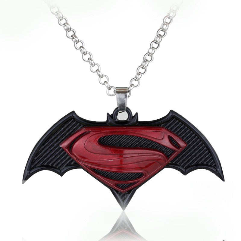 Currently Trending Superman Batman Pendant Emblem Necklace