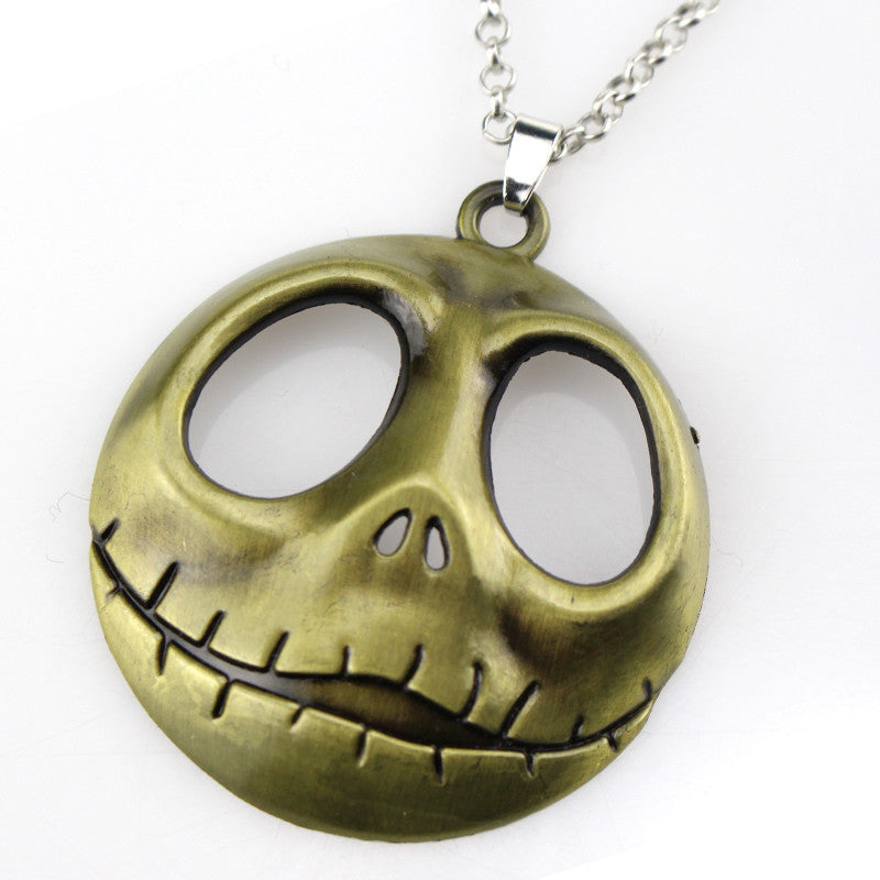 Currently Trending The Nightmare Before Christmas Jack Skellington White Skull Pendant Necklace