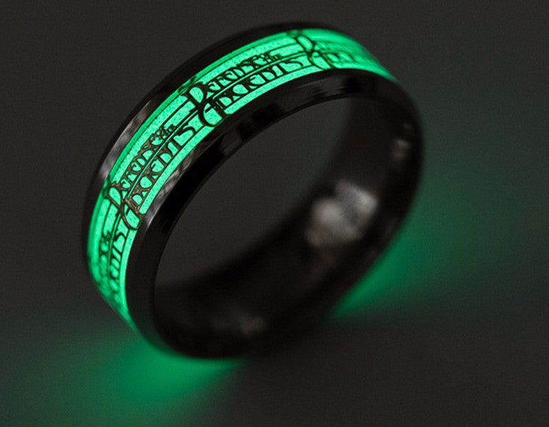 Currently Trending Glow in the Dark Stainless Steel League of Legends Men's Ring