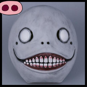 Currently Trending Latex Horror Blank Smiling Face Mask for Horror Fans