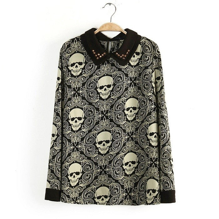 Currently Trending Womens & Girls Gothic Skull shirt top