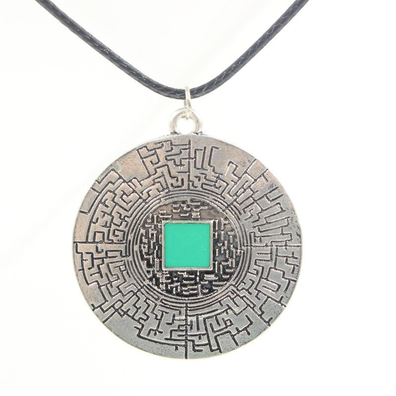The Maze Runner Vintage Leather Pendant Necklace for Men & Women