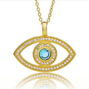 925 Sterling Silver Crystal Evil Eye Necklaces