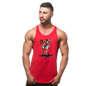 Cotton Sleeveless bodybuilding Vest