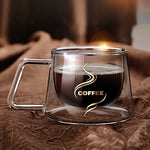 High Quality Double Glass Coffee Mugs