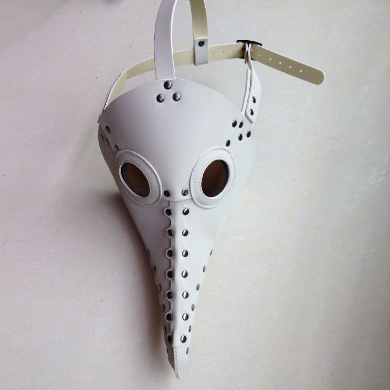 Currently Trending Gothic Steampunk Plague Doctor Bird Mask (White)