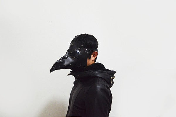 Currently Trending Gothic Steampunk Plague Doctor Bird Mask (Black)