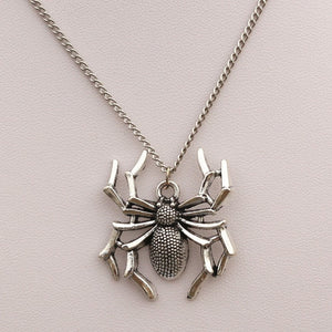 Spider Steampunk Stainless Steel Pendant Necklace