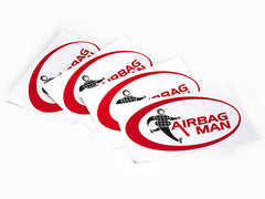 Airbag Man Full Colour Logo Sticker