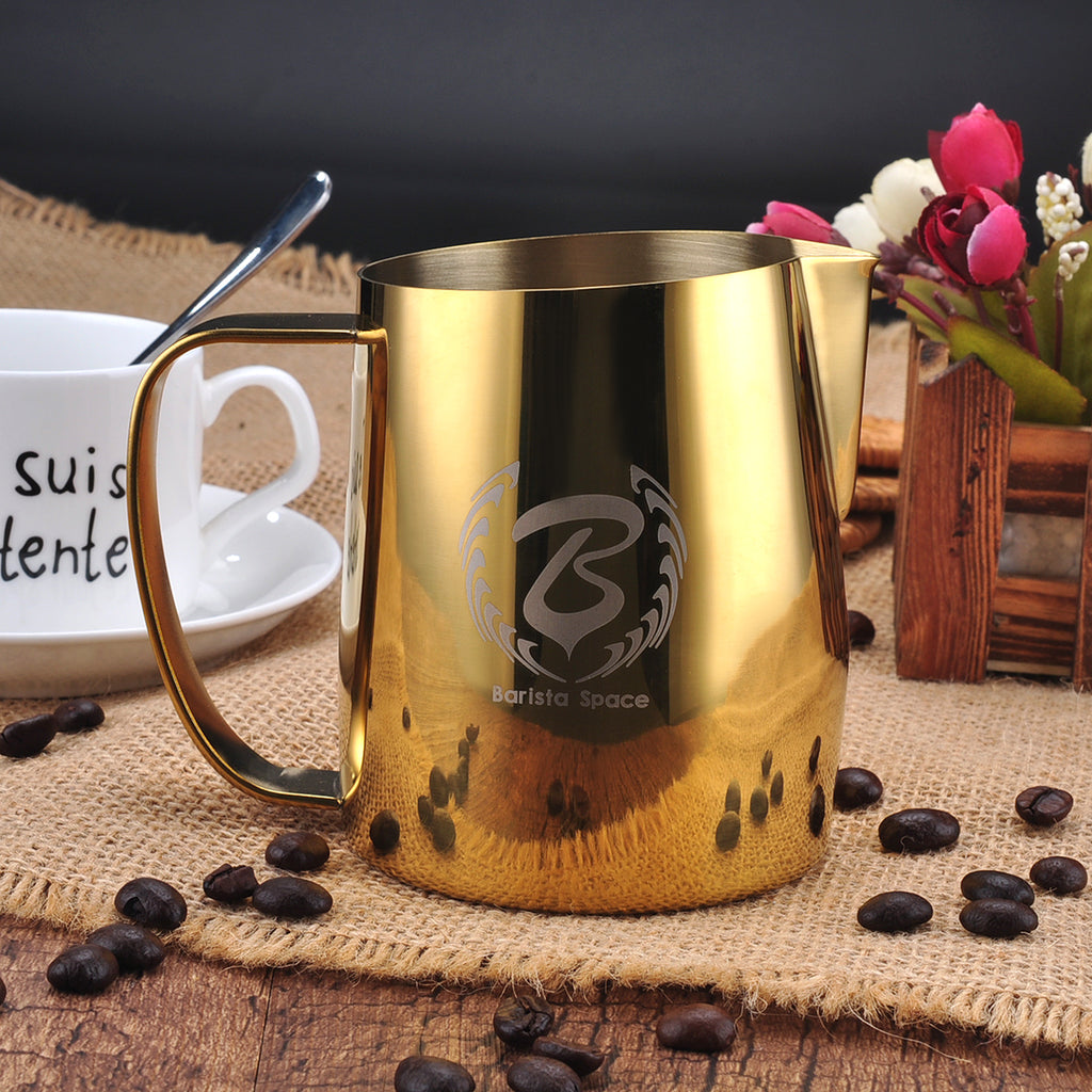 18//8 Stainless Steel 600ml Dailyart Milk Frothing Jug Frothing Pitcher Espresso Steaming Pitcher Barista Tool Coffee Machine Accessory 304