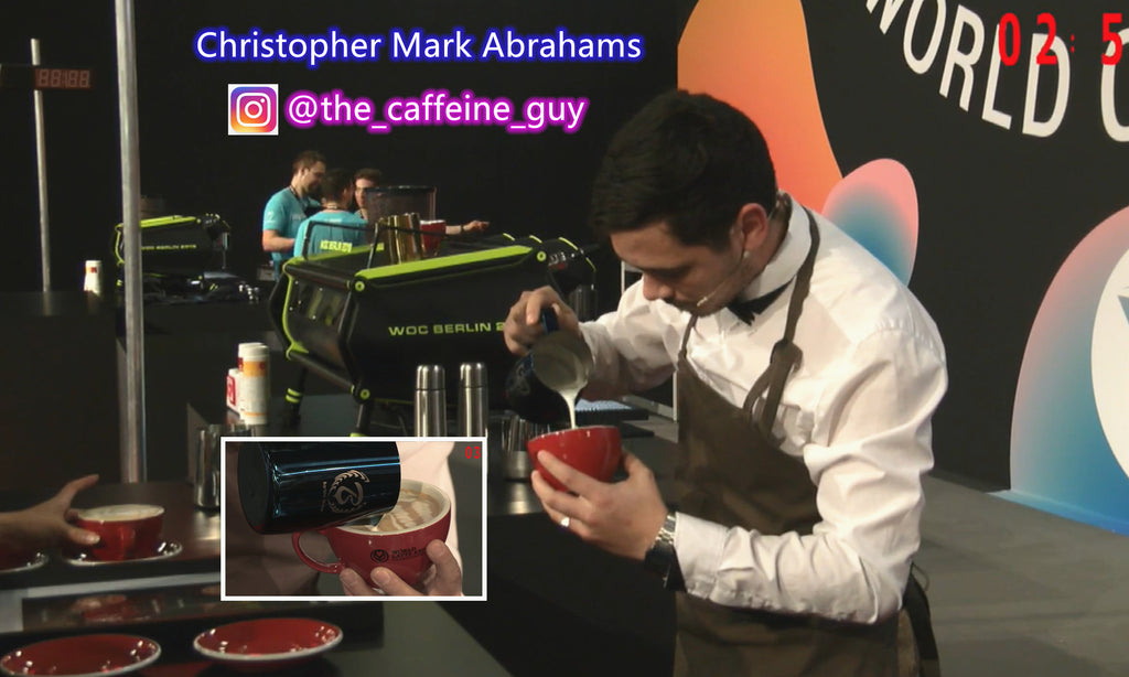 Christopher Mark Abrahams South African latte art champion 2019