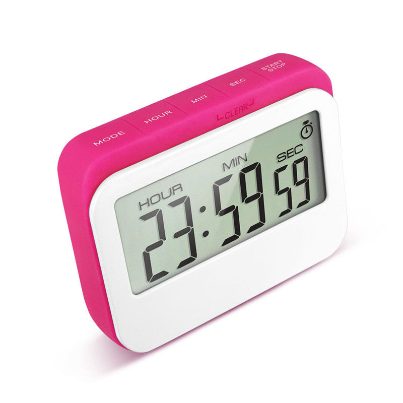 pink coffee time clock