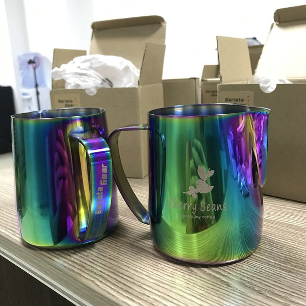 Custom BaristaGear milk pitcher