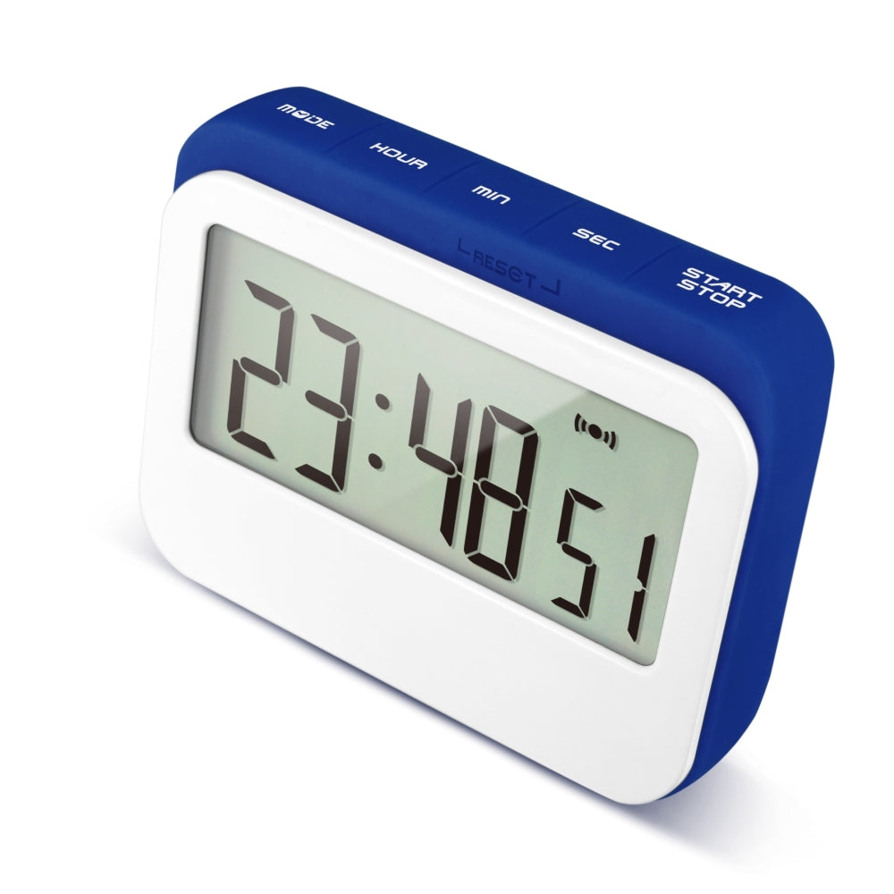 Blue coffee time clock