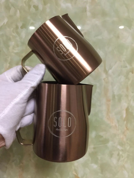Customize logo Copper Color Jug for Baristas