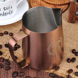 Milk Steaming Pitcher-BaristaSpace Sandy Copper Jug