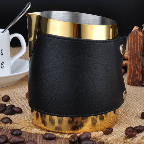 Handle Free Milk Jug Gold/Black 450ml