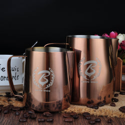 Rose Gold Stainless Steel Espresso Coffee Frothing Pitcher-BaristaSpace