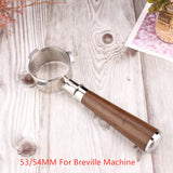 53/54MM Wood Portafilter for Breville Coffee Machine