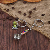 Coffee Tamper + Portafilter Keychain Set Espresso Accessories For Coffeeshop