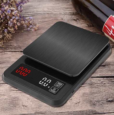 Electronic 3kg LCD Digital Drip Coffee Scale with Timer